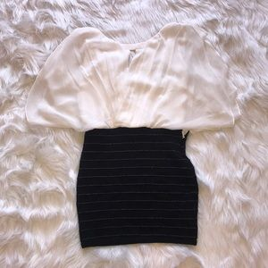 White and Black WOW COUTURE dress size M